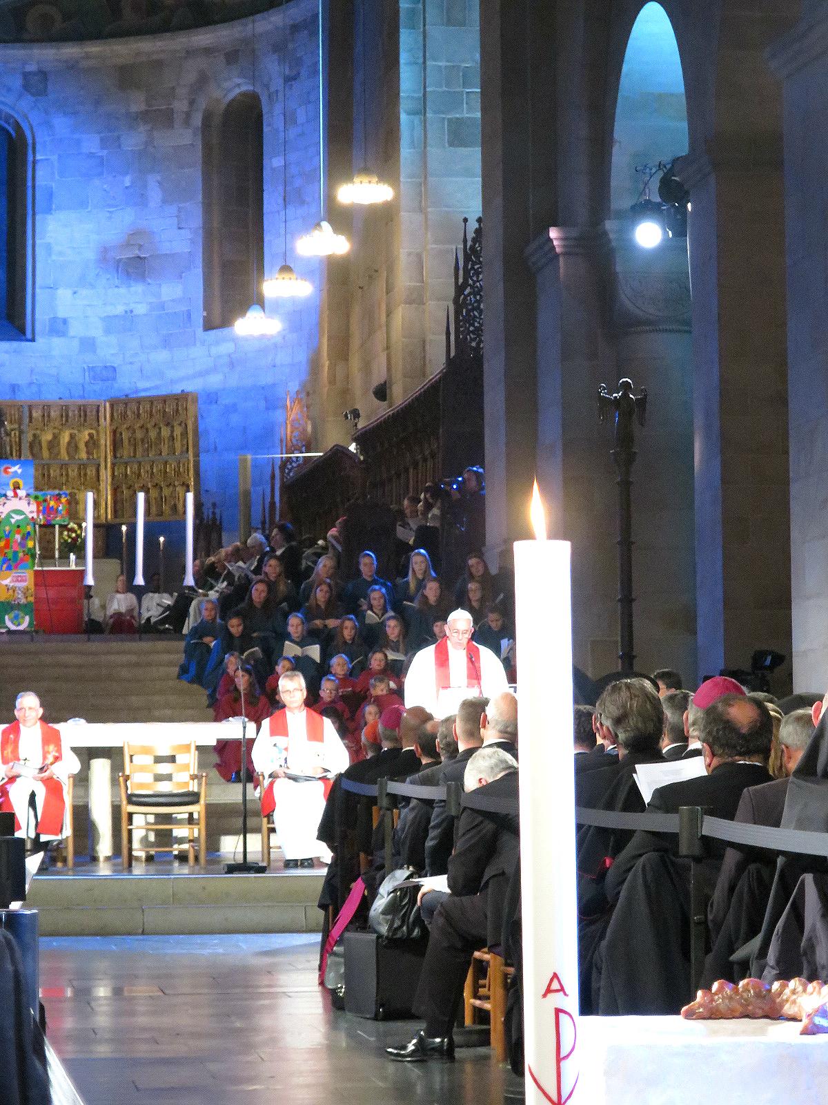 Papst Franziskus bei seiner Ansprache in Lund