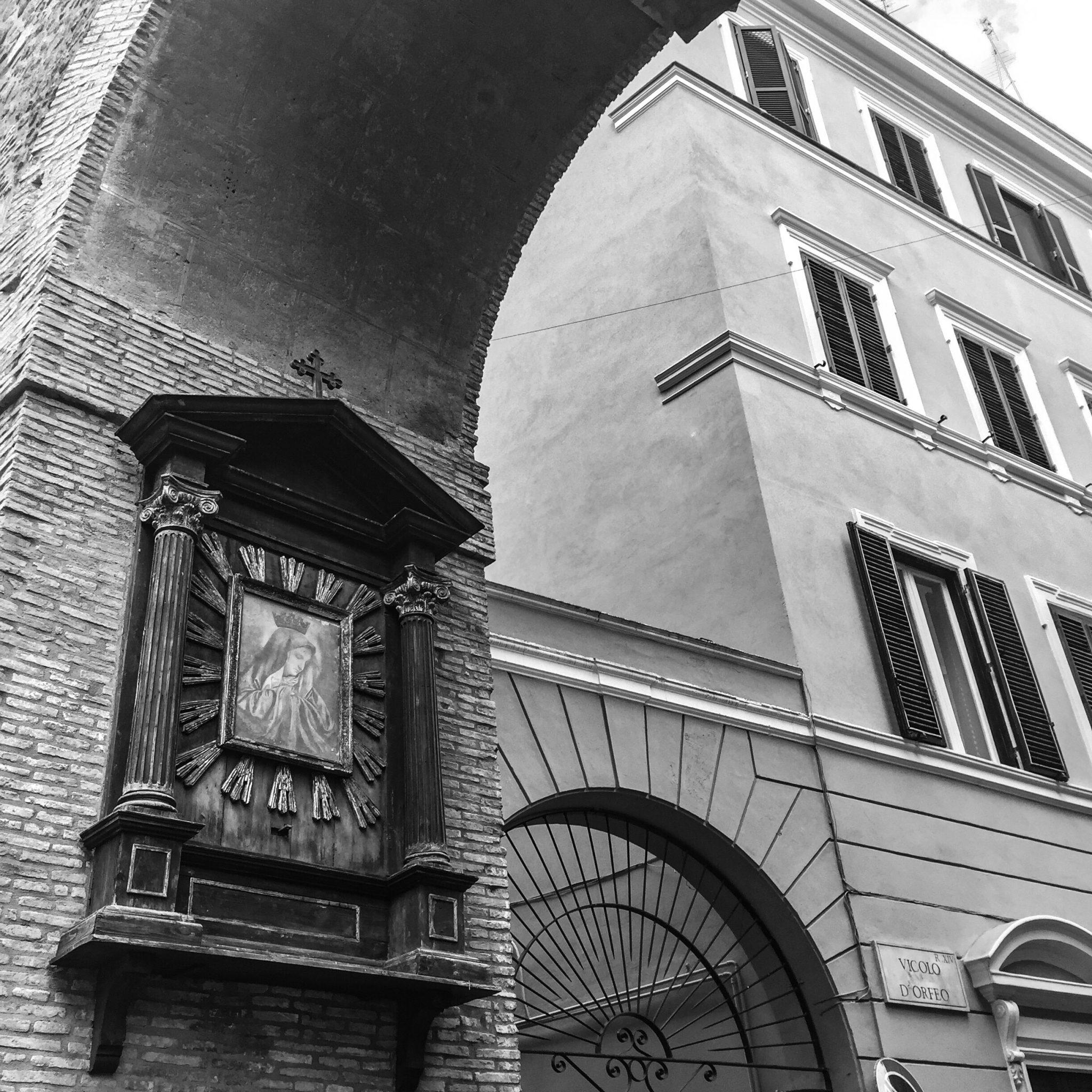 Borgo Pio, Roma: Ein Madonnenbild auf meinem Weg zur Arbeit