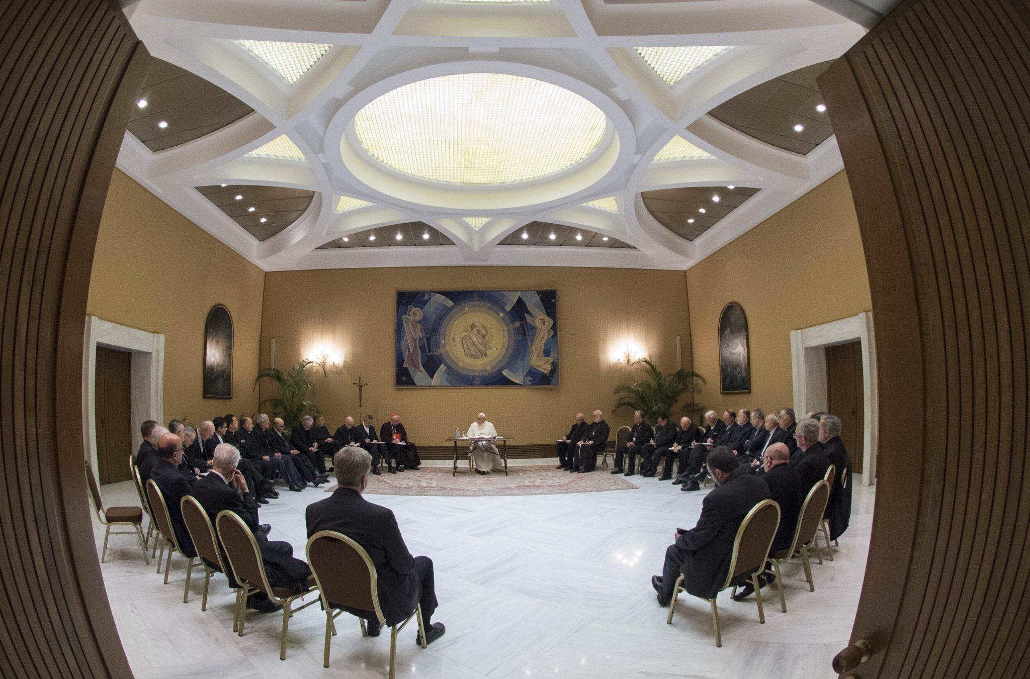 So sah das aus: Das Treffen der Bischöfe mit dem Papst