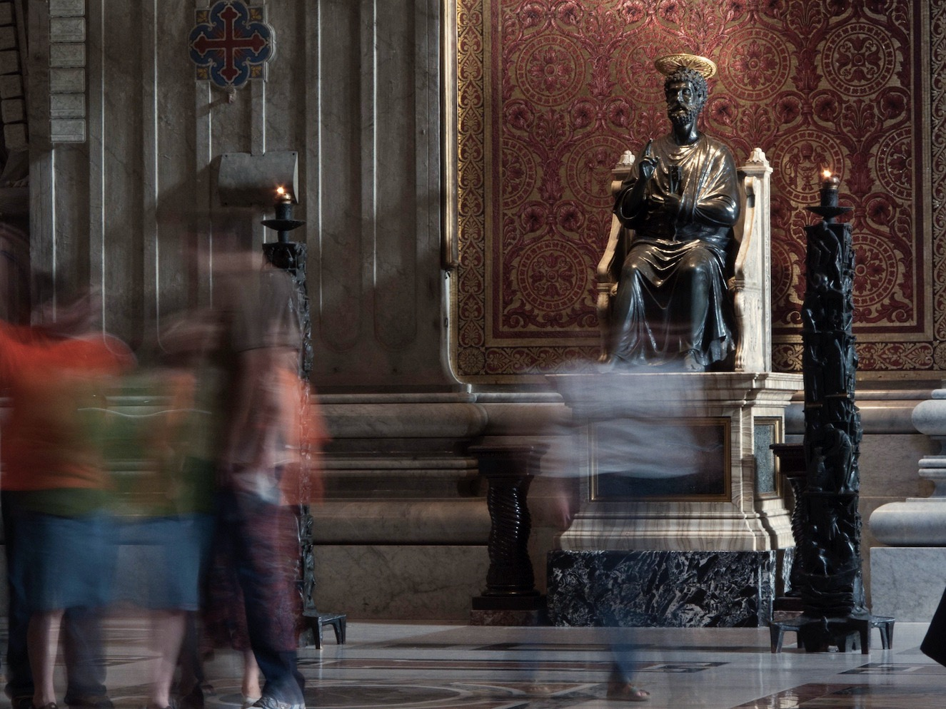 Petrus-Statue in Sankt Peter