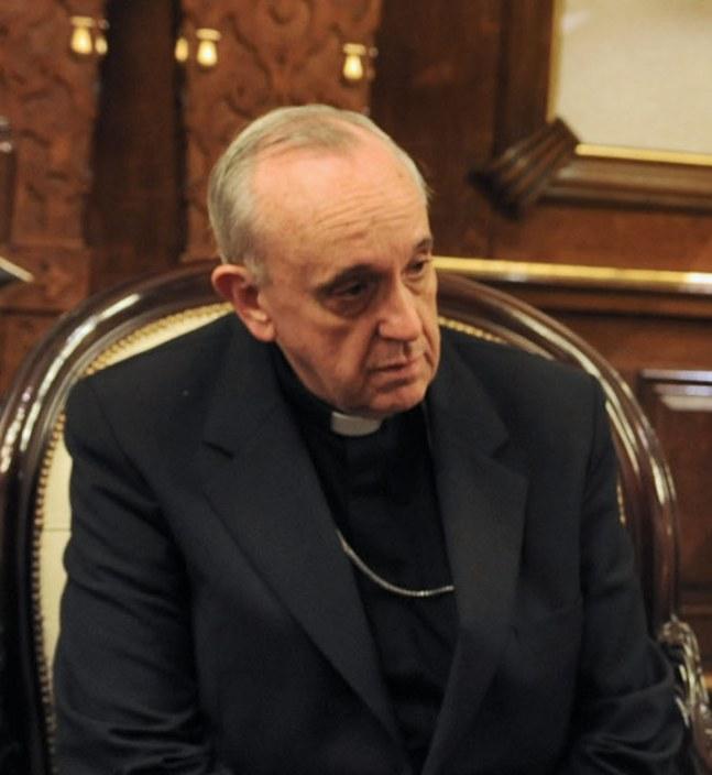 Auch damals schwieg er schon: Karinal Bergoglio vor seiner Papstwahl. Bild: Casa Rosada, Argentinien