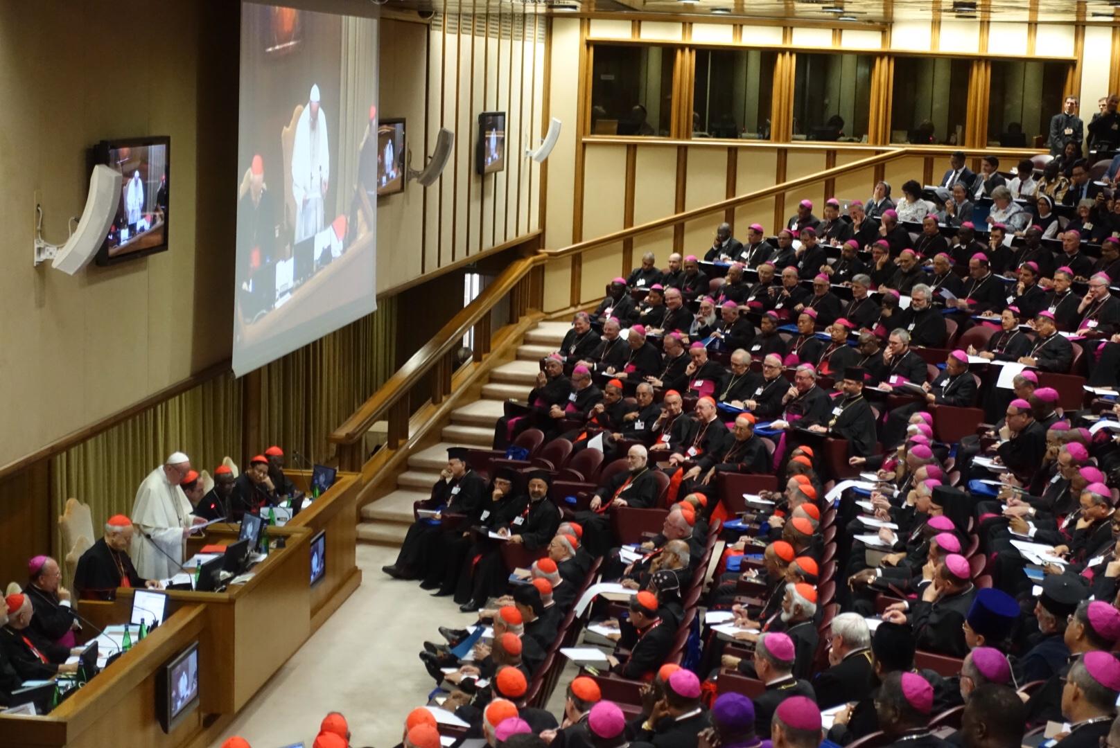 Papst Franziskus bei seiner Eröffnungsansprache am Mittwoch