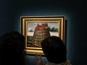 Gentechnik und Ethik, ein neuer Turmbau: hier Breughels erstes Bild des Baus in einer Ausstellung in Wien